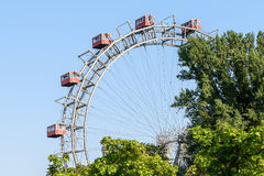 Fun Park Ferris Wheel In Vienna Prater Fun Park Royalty Free Stock Photo