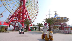 Fun park at Kobe harborland, Japan. A funpark at Kobe Harborland Japan royalty free stock images