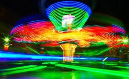 Fun Park. Rotating carousel in the fun park Royalty Free Stock Photography