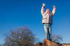 Fun in the park in spring royalty free stock photos