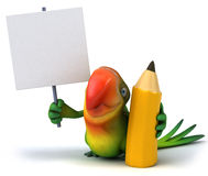 Fun parrot Royalty Free Stock Image