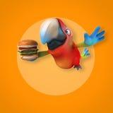 Fun parrot stock illustration