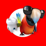 Fun parrot Stock Images