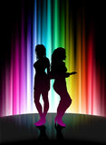 Fun Party on Abstract Spectrum Background Stock Image