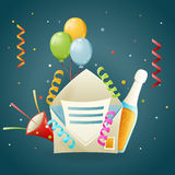 Fun Party Celebrate Birthday Icon Symbol 3d Realistic Cartoon Design Vector Illustration Stock Photos