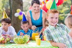Fun at the party Royalty Free Stock Photo