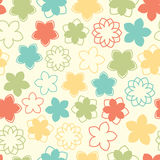 Fun pastel flowers Royalty Free Stock Photo