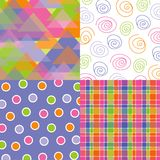Fun pastel triangle quads Stock Images
