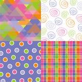 Fun pastel triangle quads Stock Images