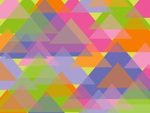 Fun pastel triangles Stock Images