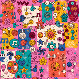 Fun pattern Royalty Free Stock Image