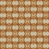 Fun pattern with dark and light brown decorations Stock Photos