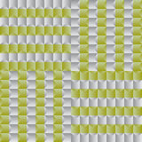 Fun pattern with silver and green geometric shapes Stock Photos