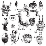 Fun patterned animals. Stock Images