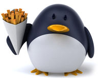 Fun penguin Stock Image