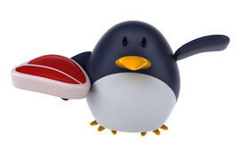 Fun penguin Stock Photography