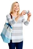 Fun photo woman Stock Photo
