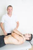Fun during physiotherapy Royalty Free Stock Photos