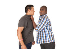 Fun picture of big brother being the tough guy Stock Image