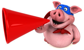 Free Fun Pig - 3D Illustration Royalty Free Stock Images - 84704489