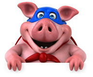 Free Fun Pig - 3D Illustration Stock Photography - 84724282