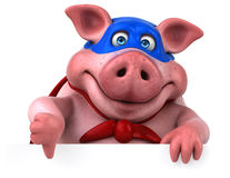 Free Fun Pig - 3D Illustration Stock Photos - 84898723