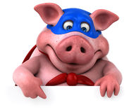 Free Fun Pig - 3D Illustration Royalty Free Stock Image - 85067306