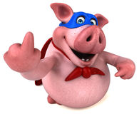 Free Fun Pig - 3D Illustration Royalty Free Stock Images - 85592669