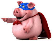 Free Fun Pig - 3D Illustration Stock Images - 85832994