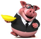 Fun pig - 3D Illustration Stock Photo