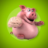 Fun pig - 3D Illustration Royalty Free Stock Photos