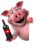 Fun pig - 3D Illustration Stock Images
