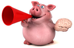 Fun pig - 3D Illustration Stock Image