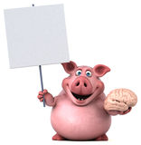 Fun pig - 3D Illustration Royalty Free Stock Photography