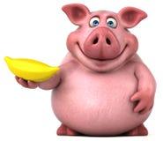 Fun pig - 3D Illustration Stock Image