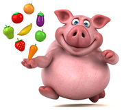 Fun pig - 3D Illustration Royalty Free Stock Images