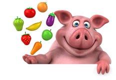 Fun pig - 3D Illustration Royalty Free Stock Image