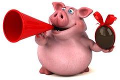 Fun pig - 3D Illustration Stock Photos