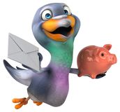 Fun pigeon - 3D Illustration stock photo