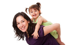 Fun piggyback ride Royalty Free Stock Photography