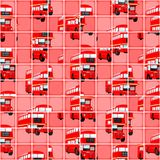 London Bus Pixel Puzzle Background Stock Photo