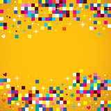 Fun pixel squares background Royalty Free Stock Photo
