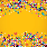 Fun pixel squares background stock illustration