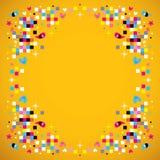 Fun pixel squares frame border background Στοκ Φωτογραφίες