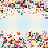 Fun pixel squares note paper background Royalty Free Stock Photography