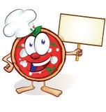 Fun pizza cartoon Royalty Free Stock Photo