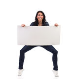Fun with a placard Stock Image