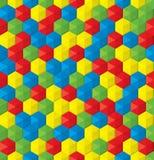 Fun plastic mosaic seamless background Stock Photos