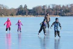 Fun play on ice Stock Image