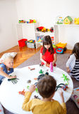 Fun play in kindergarten Royalty Free Stock Photos